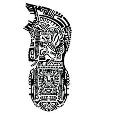 unique aztec tattoo design real photo pictures images and