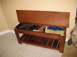 pine wood material entryway bench storage shelf with flip top