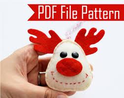 reindeer ornament sewing pattern pdf epattern