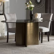 Glass Table Kitchen by Glass White Kitchen U0026 Dining Tables You U0027ll Love Wayfair