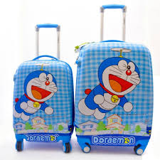Texas Traveling Suitcase images Texas usa kids doremon printed combo cabin luggage 22 inch blue jpeg