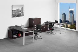 ndi elements pod of 4 benching workstations with dividers and