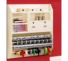 wrapping station ideas wall mounted craft organizer pottery barn