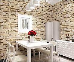 tappezzeria pareti casa carta da parati wallpaper mattoni di pietra 3d tappezzeria
