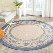 Oval Outdoor Rugs Round 7 U0027 And Larger Blue Outdoor Rugs Rugs The Home Depot