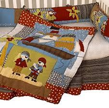 amazon com cotton tale designs pirates cove 4 piece crib bedding