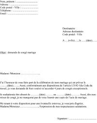 demander acte de mariage modèle de lettre pour demander un congé mariage à employeur