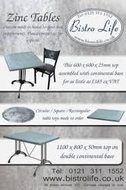 Zinc Top Bistro Table Zinc Bars Paris Bar And Paris
