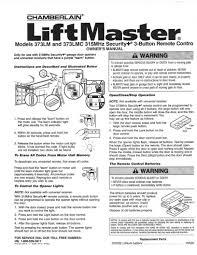 Overhead Garage Door Remote Programming by Liftmaster Garage Door Opener Manual Acs Receiver Logic Board