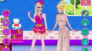 elsa cinderella blonde contest play game
