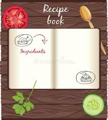 recipes cookbook template stock vector image 77112849