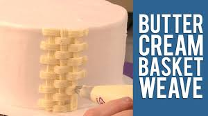 Youtube Easter Cake Decorations by How To Make A Buttercream Basketweave Cake Design Youtube