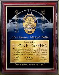 retirement plaque recognition plaques