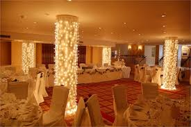 Ceiling Drapes With Fairy Lights Column Lights From Fairy Lights U0026 Drape Hire Hitched Co Uk