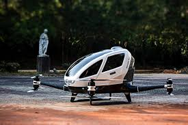 ehang 184 drone helicopter carries people autonomously