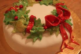 culinary conquests christmas cake part two u0027wreath design u0027