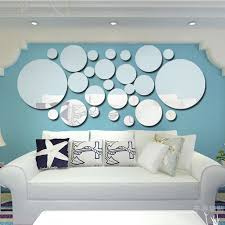 high quality wall mirror stickers buy cheap wall mirror stickers 26pcs mirror wall stickers silver round wall mirror sticker for tv background home decor modern acrylic