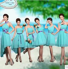 online shop teal bridesmaid dresses chiffon turquoise blue dress