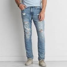 Mens Destroyed Skinny Jeans Fashion Men Ripped Jeans Skinny Black Hip Hop Jeans Pants Slim