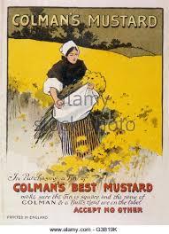 colman mustard colmans mustard advertising stock photos colmans mustard