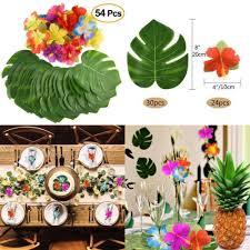 54 Pieces Moana Themed Party Tropical Luau Hawaiian Table