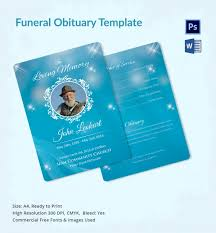 funeral obituary template 22 free word excel pdf psd format