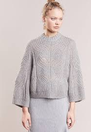 designers remix promotion price designers remix vicki cable jumper grey