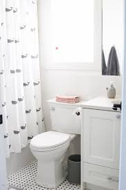Simple Shower Curtains Simple Clean And White Bathroom Reveal So Much Better