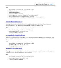 Sample Digital Marketing Resume by Narendra Resume New