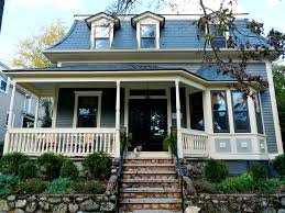 modern nice design paint colors for hardie board with blue roof