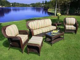 Refinish Wicker Patio Furniture - furniture wonderful outdoor wicker patio furniture with green