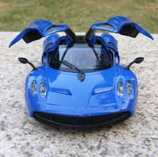 panda superstore awesome car model die cast 1 32 car toy blue