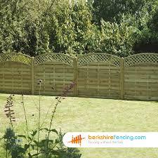 convex arched lattice top fence panels 3ft x 6ft natural