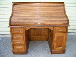 tiger oak roll top desk signed macey front porch antiques