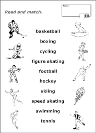 sport vocabulary for kids learning english printable resources