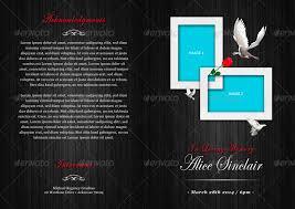 modern funeral programs modern funeral program brochure template by designs4u graphicriver