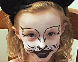 kitty cat face painting tutorial halloween with snazaroo