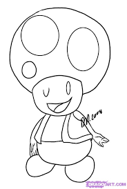 mario toad coloring pages getcoloringpages