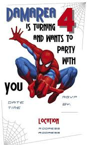spiderman birthday invitation ideas spiderman invitation