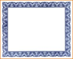 blank award certificate template border png scope of work template