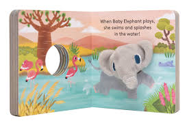 baby elephant finger puppet book chronicle books yu hsuan huang