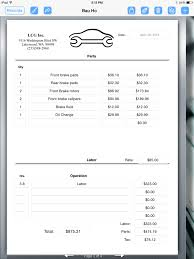 parts and labor invoice template free mickeles spreadsheet