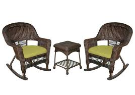 Outdoor Rocking Chair Cushion Sets Palm Springs Outdoor 5 Pc Furniture Wicker Patio Set W Chairs
