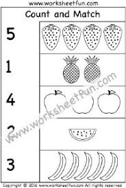count and match fruit crafts and worksheets for preschool