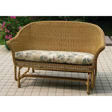 Wicker Glider Patio Furniture - chicago wicker 4 pc darby wicker patio furniture collection