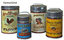 vintage metal kitchen canisters collectible metal kitchen canisters ebay