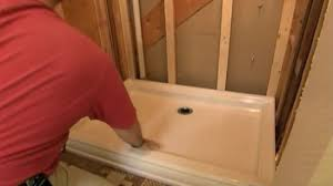 How To Replace Bathroom Subfloor How To Install A Shower Pan 10 Steps With Pictures Wikihow