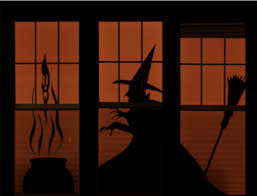 embrace the random halloween window silhouettes