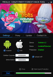 trolls crazy party forest hack cheats tool android ios home