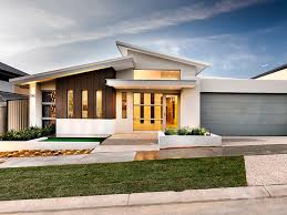 Modern Single Storey House Plans Single Storey Skillion Roof Google Search House Facades
